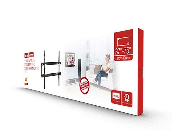 """Suporte FIXO ULTRA SLIM para TV LED, LCD de 37"""" a 75"""" – Brasforma SBRP604"""