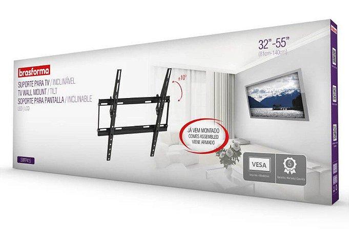 """Suporte ULTRA SLIM INCLINÁVEL para TV LED, LCD de 32"""" a 55"""" – Brasforma SBRP415"""