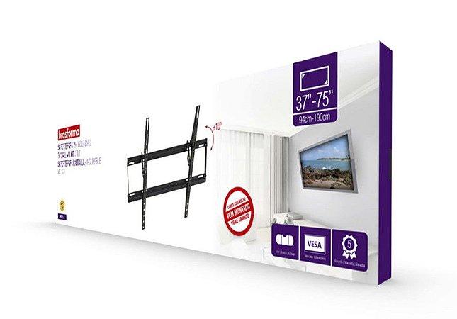 """Suporte ULTRA SLIM INCLINÁVEL para TV LED, LCD de 37"""" a 75"""" – Brasforma SBRP615"""