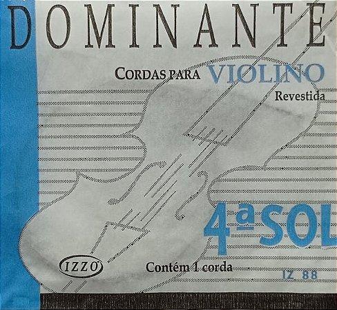 Corda P/ Violino Dominante 4ª Sol IZ 88