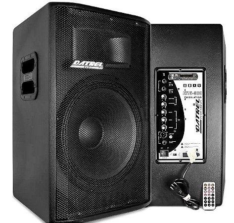 Caixa Amplificada Datrel AT15300B-Titanium Bluetooth 300wrms
