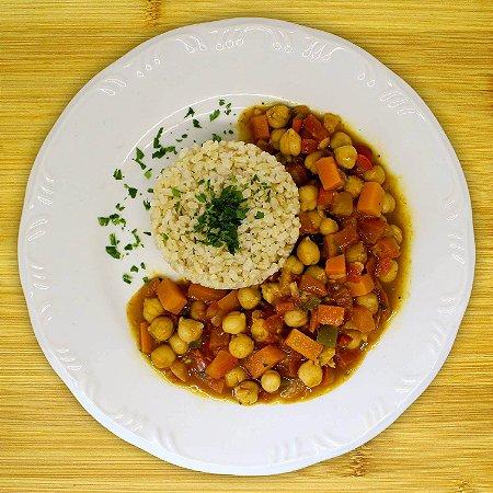 Curry de grão-de-bico (vegano)