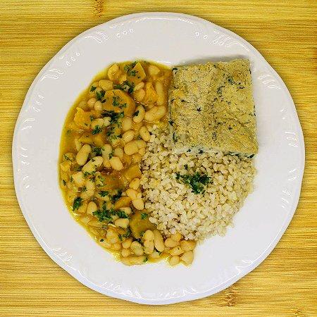 Suflê de espinafre (vegetariano)