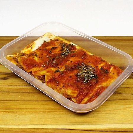 Lasanha à bolonhesa de soja (vegetariano)