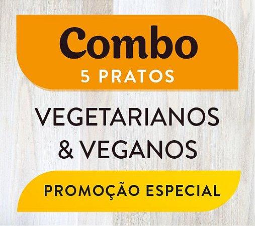 Combo - 5 pratos Vegetarianos & Veganos
