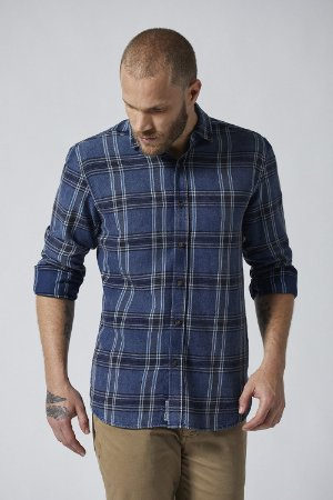 CAMISA M/L CASUAL XADREZ SNOW WASH