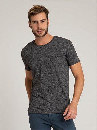 Camiseta Careca Mescla com Bolso