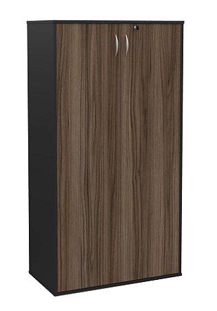 Armário alto duas portas para escritório MDP 15mm com prateleiras removíveis