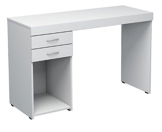 Escrivaninha reta duas gavetas e espaço aberto confeccionado em MDP 15mm marca Seara Móveis Inteligentes!