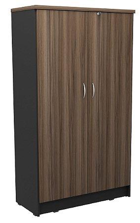 Armário alto duas portas para escritório em MDP com prateleiras removíveis