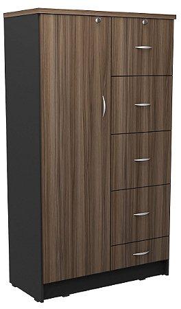 Armário alto Misto em MDP 25mm com porta, quatro gavetas de pasta suspensa e uma gaveta normal!
