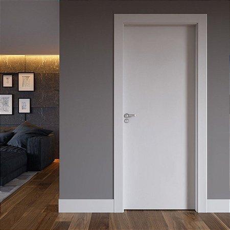 Kit Porta Pronta em Poliéster Branco  2100x800x90 com fechadura e dobradiça (aplicação em paredes em Drywall)