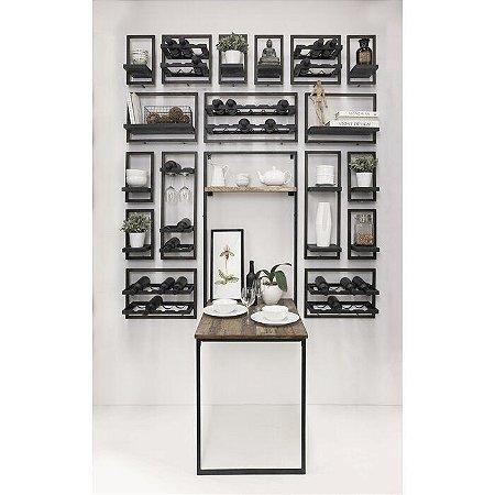 Mesa de jantar em metal com tampos em MDP  com possibilidade de articular na parede!