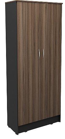 Armário alto duas portas para escritório em MDP com prateleiras removíveis!