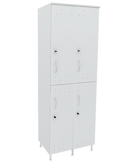 Armário vestiário  duplo em MDP 15mm com pés em alumínio e fechadura individual.