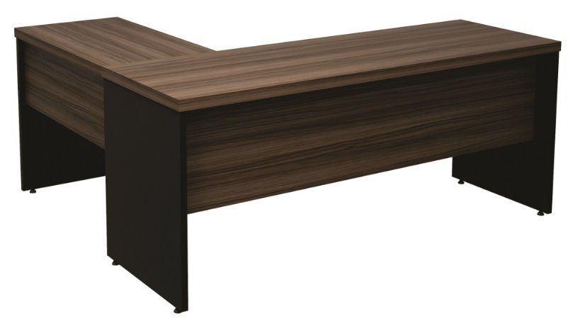Mesa em L diretor New  confeccionado em MDP 40mm medindo 1800x1500x750mm