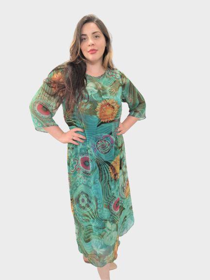 Vestido de Seda v213