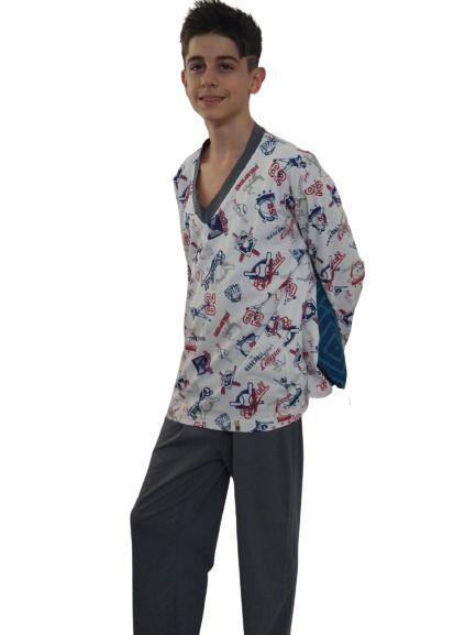 Pijama Malha Masculino Longo