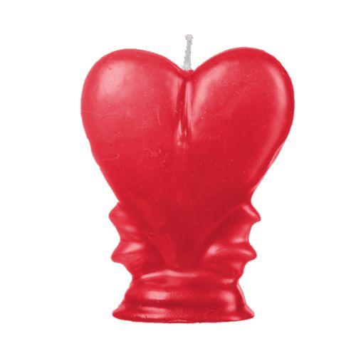 Vela Coração Vermelha