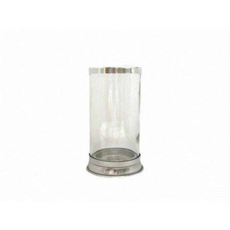 Pote de Vidro para Vela com base de alumínio