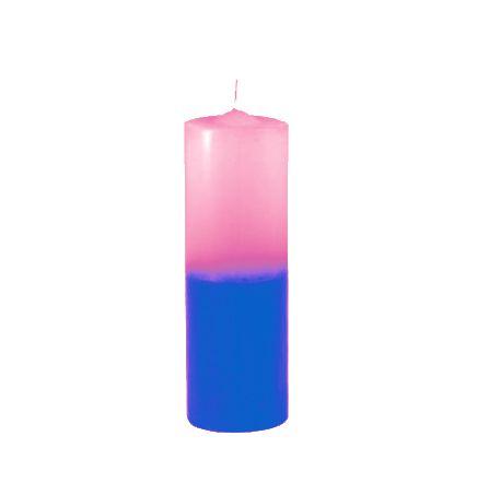 Vela de 7 dias Rosa e Azul 240g