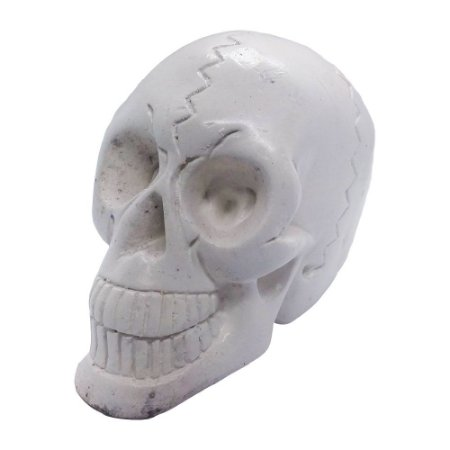 Crânio Branco 10cm de Gesso