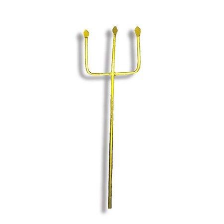 Tridente de Ferro Dourado Para Exú 15cm