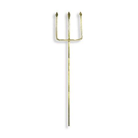 Tridente de Ferro Dourado Para Exú 42cm