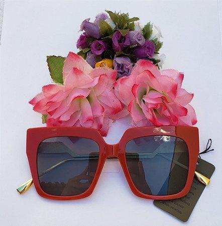 Óculos de Sol - Quadrado Vermelho