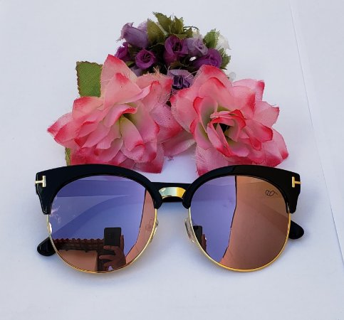 Óculos de Sol - Estilo Gatinho|Lentes Lilás