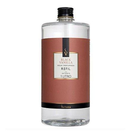 Refil água perfumada Via Aroma black vanilla 1 L