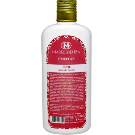 Refil sabonete líquido Madressenza romã rubi 250 ml