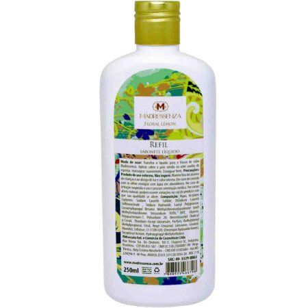 Refil sabonete líquido Madressenza floral lemon 250 ml