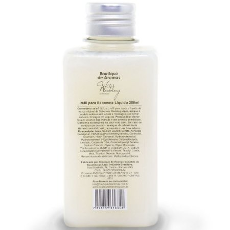 Refil sabonete líquido Boutique de Aromas wedding  250 ml