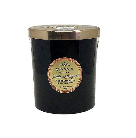 Vela perfumada Wanna jardim tropical flor de laranjeira e cardamomo 200 g