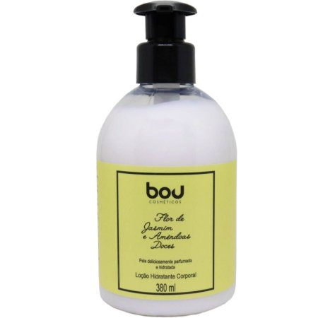 Hidratante corporal Bou Cosméticos flor de jasmim e amêndoas doces 380 ml