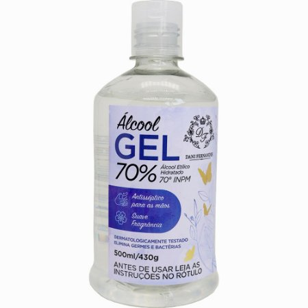 Álcool em gel Dani Fernandes 70% aromatizado 500 ml