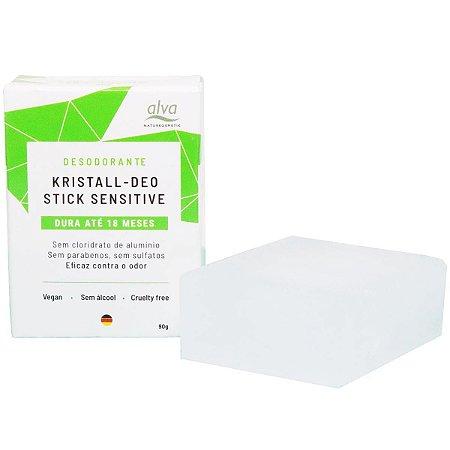 Refil Desodorante natural cristal stone Alva sem perfume 90g