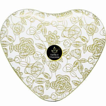 Vela perfumada Luz da Vida Vanilla e Chocolate coração 300 g