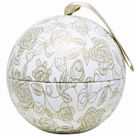 Vela perfumada Luz da Vida Citronela bola flor dourada 350 g