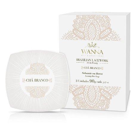 Sabonete em barra Wanna chá branco 90 g 3 unidades