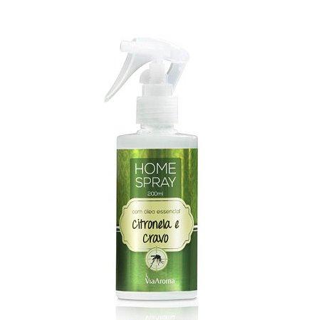 Home spray Via Aroma óleo essencial de citronela e cravo 200 ml
