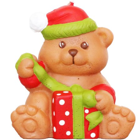 Vela decorativa Guenther Urso natalino