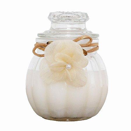 Vela perfumada Luz da Vida flor de laranjeira vidro 90 g