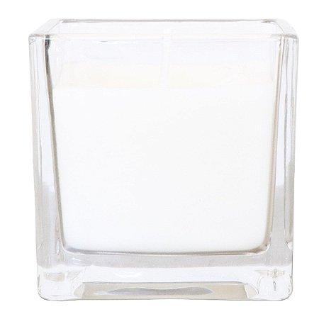 Vela perfumada Guenther em vidro quadrado Alecrim