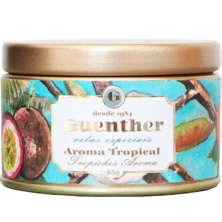 Vela perfumada Guenther em lata Jardim Tropical 65 g