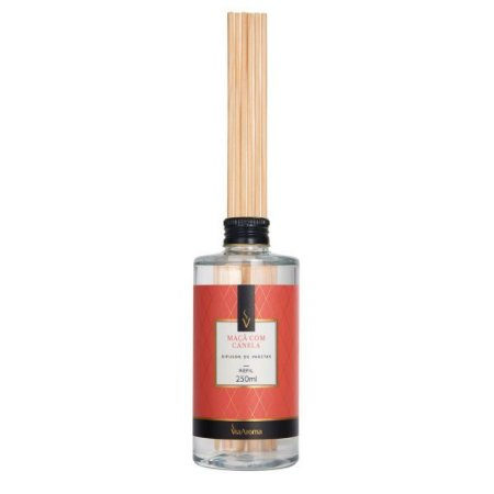 Refil difusor de aromas Via Aroma maçã e canela 250 ml