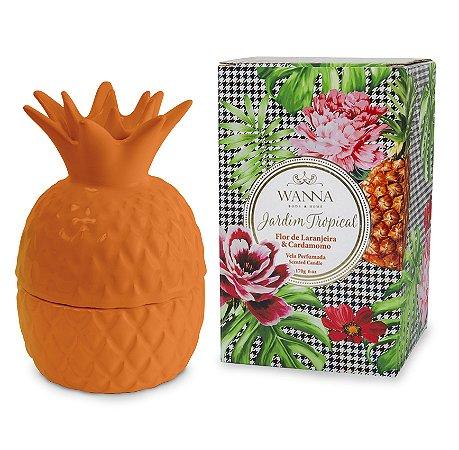 Vela perfumada Wanna flor de laranjeira e cardamomo abacaxi laranja170 g