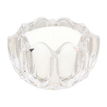 Vela perfumada Guenther em vidro de flor Alfazema