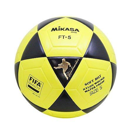 Bola Oficial de Futevôlei Mikasa FT-5 - Padrão FIFA Amarela/Preta